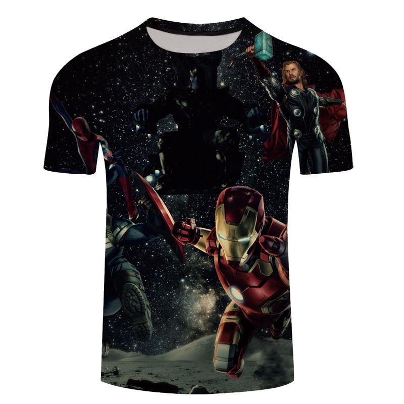 2018 Marvel Avengers 3 Iron Man 3D Print   T  -  shirt   Men/Women Superhero   T     shirt   fitness Clothing Man's Tops Tee Plus size S-6XL