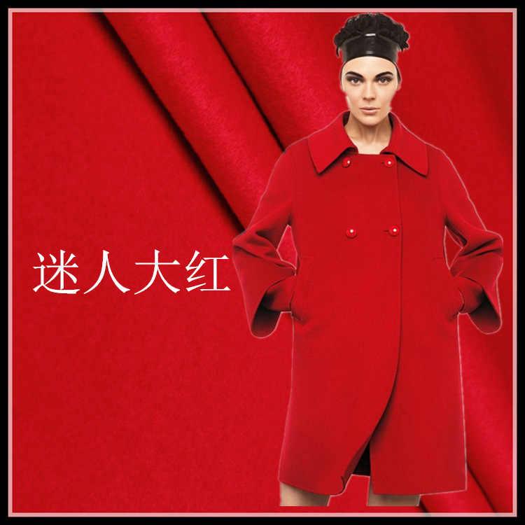 Завод прямых продаж кашемировая ткань осень и зима пальто; костюм; куртка кашемировая ткань красная шерстяная ткань кашемировая ткань