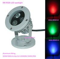 Ücretsiz kargo!! CE, yüksek güç 9 W LED RGB spotlight, RGB led spotlight DS-06-15-9W-RGB, 12 V DC, IP65, dim, kontrol
