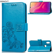 For Vivo V11i Case Flip  Silicone Leather Wallet Anti-knock Phone Cover Bag