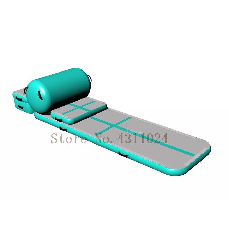Livraison gratuite un ensemble Air scellé DWF gonflable Air dégringolade piste à vendre, gonflable Airtrack gymnastique gratuite une pompe