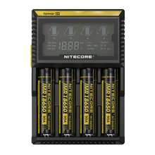 Батарея Зарядное устройство Nitecore D4 Digi Зарядное устройство ЖК-дисплей Дисплей Батарея Зарядное устройство для литий-ионных 26650, 22650, 18650, 17670, 18490, 17500 Батарея