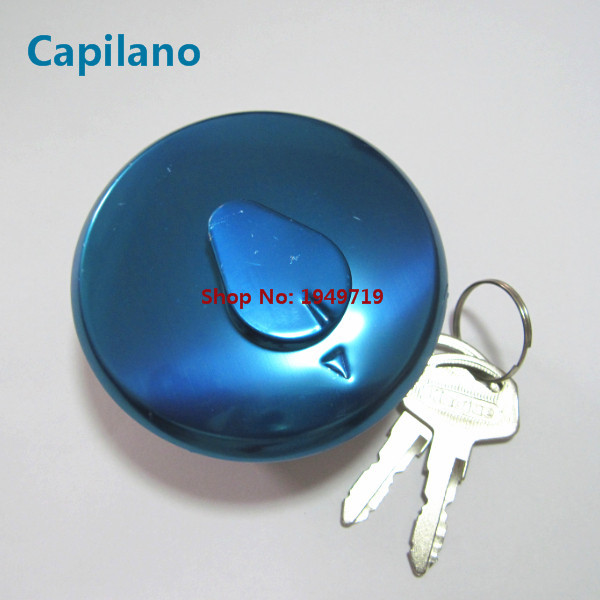 Aluminum Motorcycle Gas Fuel Tank Cap Cover /& 2 Keys For Suzuki GN125 GN250