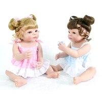 Новое поступление 23 ''Reborn куклы полный силиконовый корпус для новорожденных девочек Близнецы кукла детские игрушки с золотой коричневый во