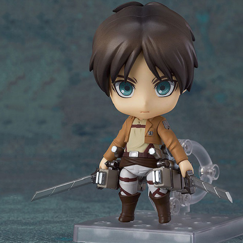 10cm Nendoroid Anime Attack on Titan Shingeki no Kyojin Eren Jaeger Q Version PVC Action Figure Collectible Model Toy Doll  недорого