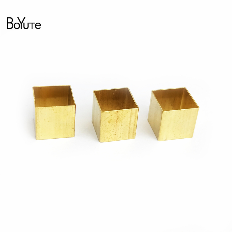 BoYuTe 100Pcs Metal Brass 10MM Square Tube Beads Diy Jewelry Accessories