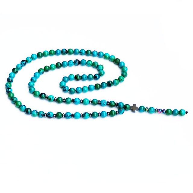 Boho Stone Beads Necklace Mawgie
