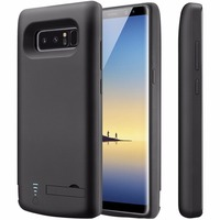 6Countries drop ship For Samsung Note 8 6500mAh Battery Case TPU Frame Protective Charger Extended Power Bank Type C Charging