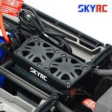 SKYRC 55mm doppel Fan 5V Bürstenlosen Motor Kühler Kühlung mit Gehäuse 1/5 RC motor Trax X Maxx