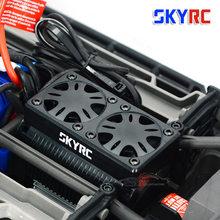 Skyrc 55ミリメートルダブルファン5 12vブラシレスモーターラジエーター冷却ハウジングと1/5 rcモーターtrax x マックス