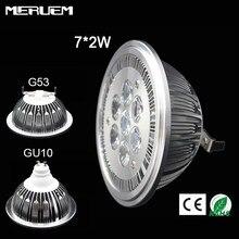 Светодиодный прожектор G53/GU10 ES111 QR111 AR111, 14 Вт, 7х2 Вт, теплый белый/натуральный белый/холодный белый вход, постоянный ток 12 В/AC85-265V