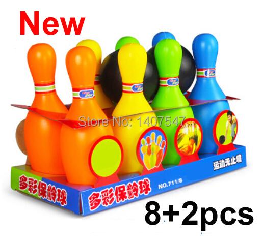 Nueva plástico bolas de bolos del bebé Bowling Bowling Balls juego del bebé juguetes intelectual niños juguetes brinquedo
