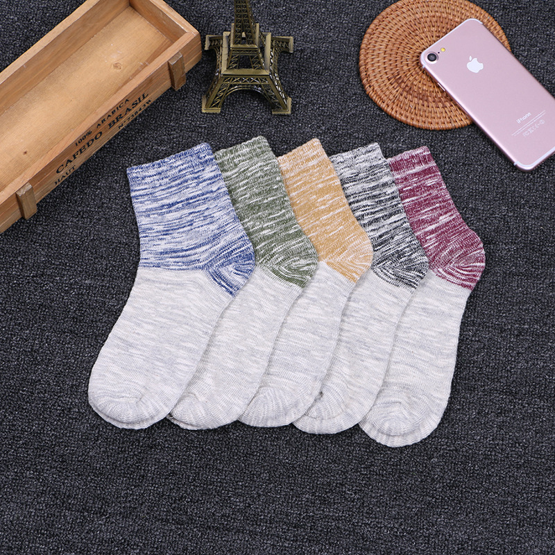 5pairs /lot Retro Cotton Men Socks Striped Breathable Winter Spring compression Socks High Quality sheer sock for funny men S037
