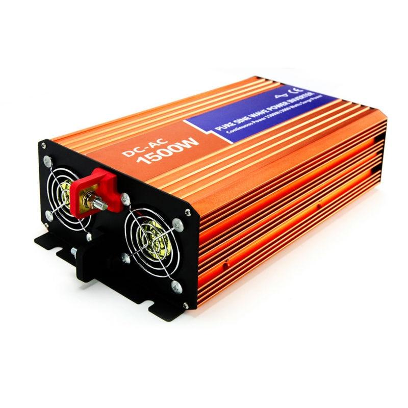 1500 W Hors réseau Onduleur À Onde Sinusoïdale Pure Fréquence Convertisseur DC 48 V AC 110 V/120 V/127 V Pour La Maison Solaire PV ou Système D'énergie Éolienne