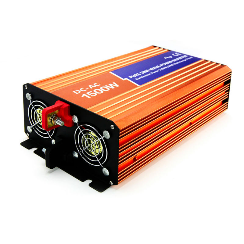 1500W Off-grid Inverter Pure Sine Wave Frequency Converter DC 48V AC 110V/120V/127V For Home Solar PV or Wind Power System wind solar hybrid system dc ac off grid 12v 220v pure sine wave 1500w inverter