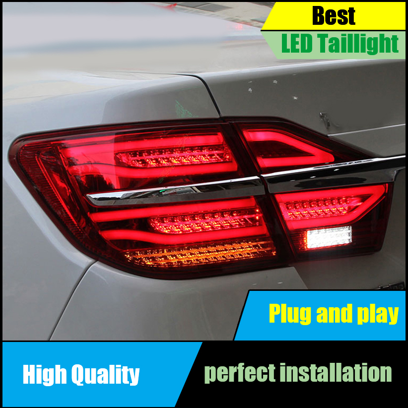 Car Styling for Toyota Camry V55 Tail Light Assembly 2015 2016 LED Dynamic Turn Signal Taillight Rear Lamp Driving+Brake+Park+