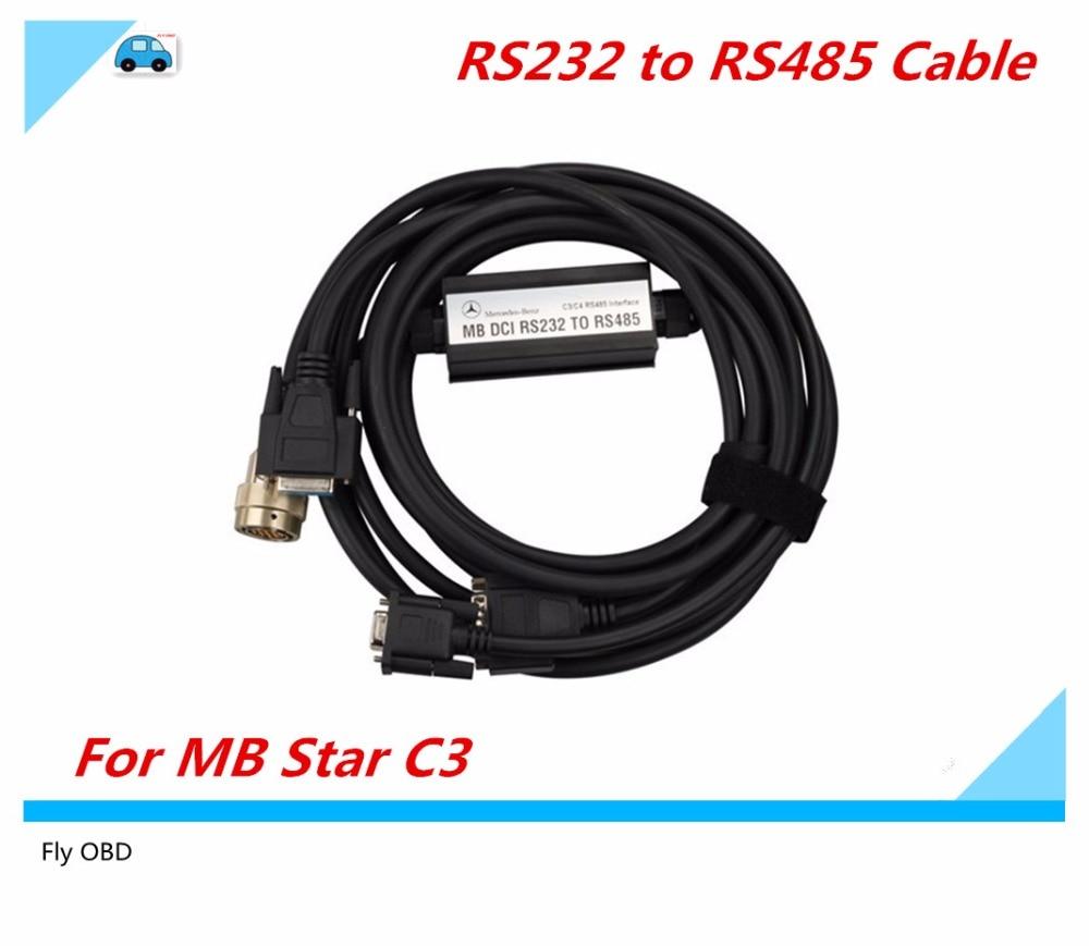 Prix pour 2016 Excellente Qualité DCI RS232 à RS485 Câble avec Cooper matériel pour mb étoile c3 Outil De Diagnostic RS485 Câble pour MB ÉTOILES C3