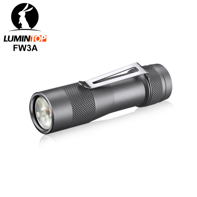 Lumintop FW3A 18650 smart flashlight Anduril firmware triple LED CREE XPL HI LED with tail switch
