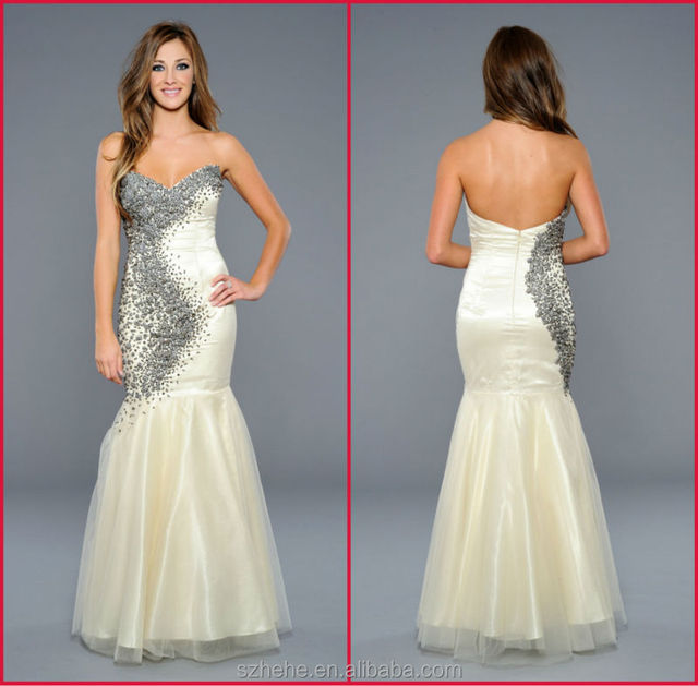Shiny CW2501 gorgeous cream coloured mermaid bling heavy beaded ...