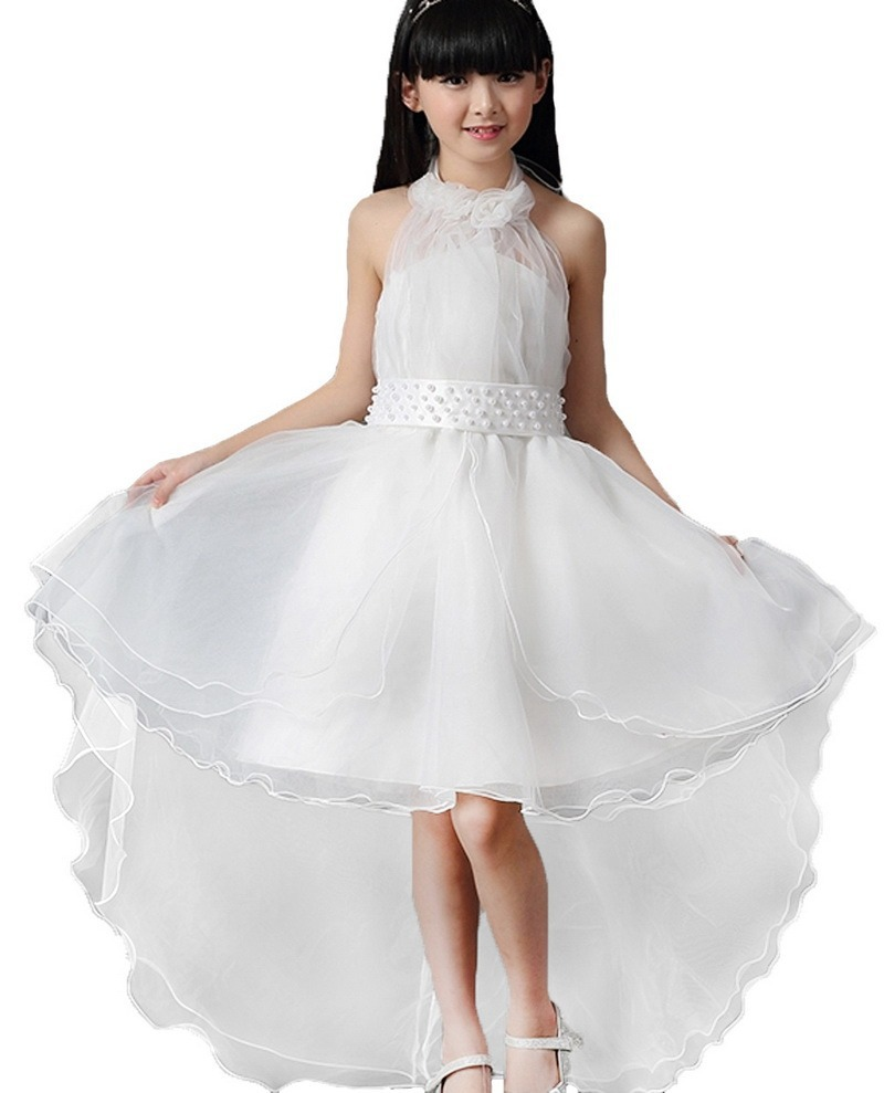 New children baby girls dressflower bow belt white princess dress new children baby girls dressflower bow belt white princess dress kids clothes party wedding bridesmaid birthday dresses 3 9y in dresses from mother ombrellifo Images