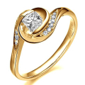 Unique Halo Lab Grown Diamond 14K 585 Yellow Gold 0.5CT Princess Moissanites  Floral Wedding Ring For Women Jewelry Gifts