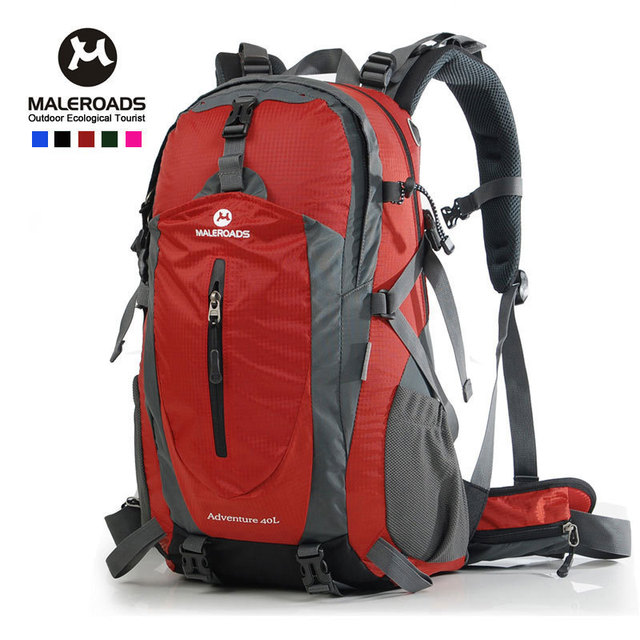 d50444a131c6 Maleroads Man and women outdoor travel backpack   camping  mountaineering  waterproof backpack 40L 50L