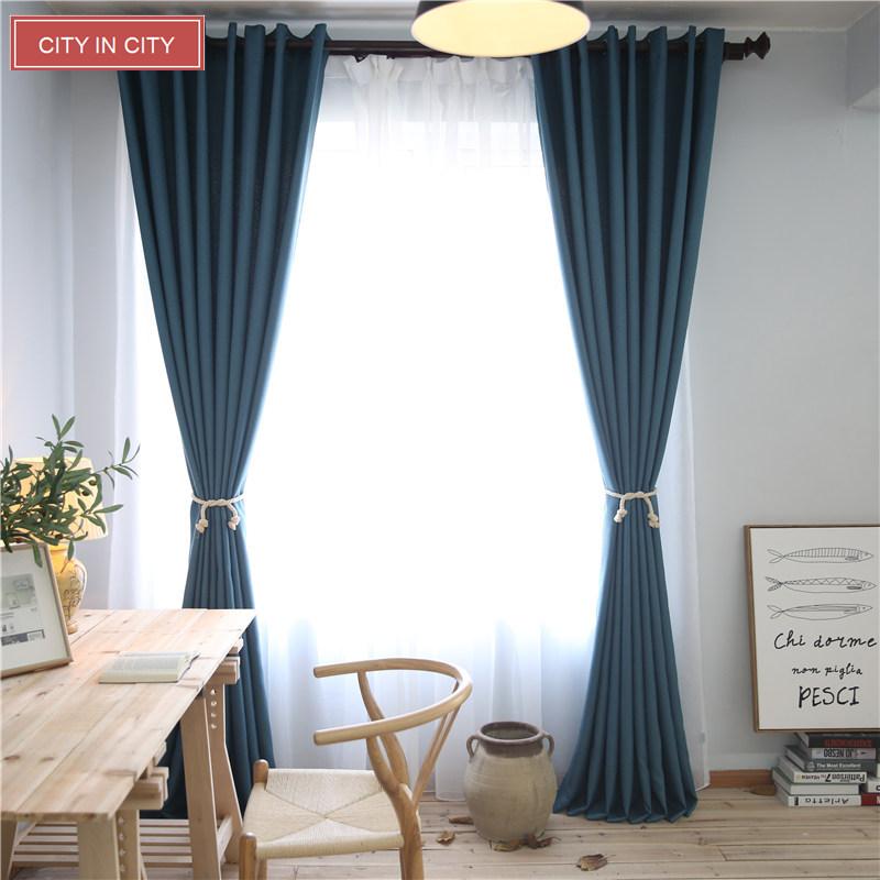 cityincity elegante decoracin de imitacin de lino tela escocesa moderna cortinas para el dormitorio saln cortinas