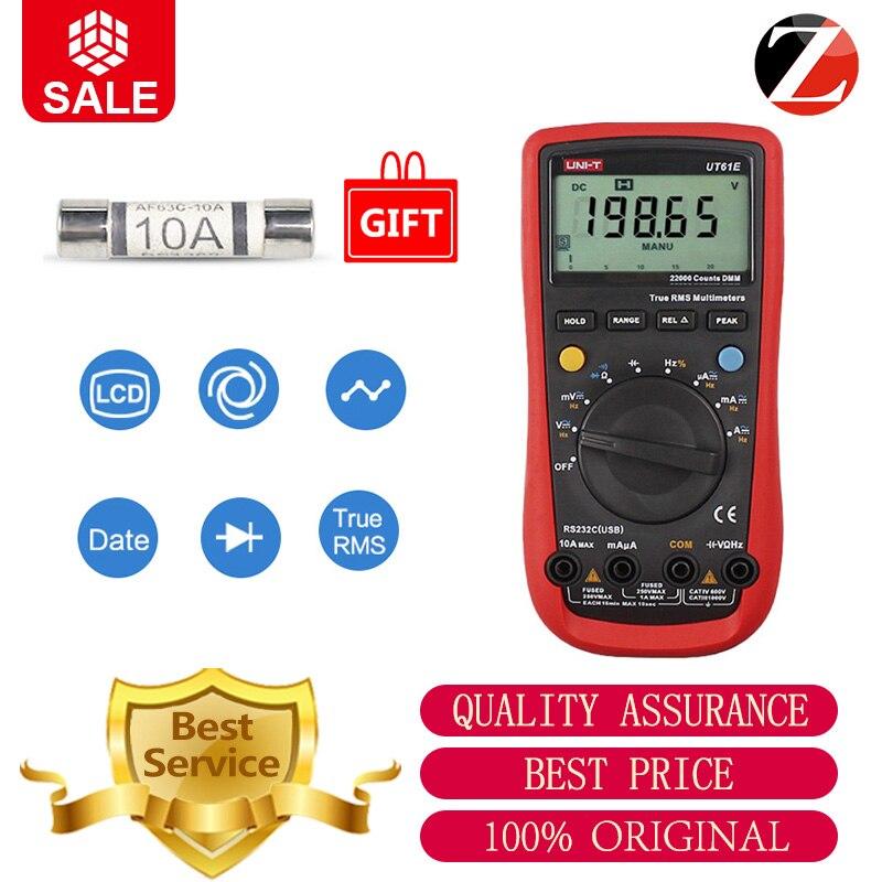 UNI T Digital Multimeter Meter UT61E 22000 Counts True Rms AC DC Voltage Current Resistance Capacitance