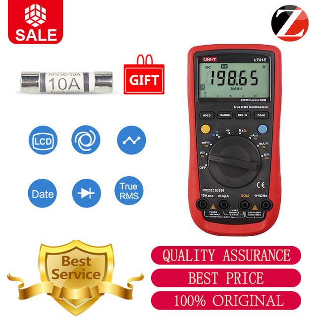 Uni T Ut61e Ut61d Ut61a 22000 Counts True Rms Digital Multimeter Ac