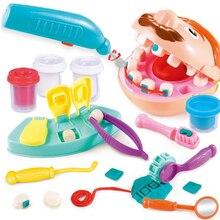 Arts Speelgoed Voor Kinderen Pretend Play Toy Tandarts Controleren Tanden Model Set Medische Kit Rollenspel Simulatie Vroeg Leren Speelgoed