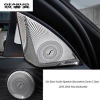 Car Styling Stainless Steel Car Door Audio Speaker Decorative Cover Trim 3D Sticker For Mercedes Benz