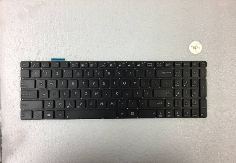 New Laptop Keyboard for Asus N550 N550J N550JA N550JK N550JV N56 N56DP N56DY N56VB N56VJ N56VM N56VZ N56X US Black free shipping 15 6 for asus n550j n550jv n550ja n550lf laptop digitizer touch screen glass free shipping