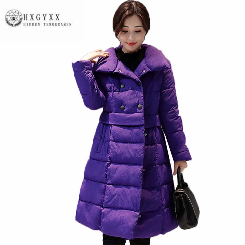 2017 Hot selling Women Winter Cotton Coat Big yards Long Pure color Fashion Female Parka New Leisure Loose Outerwear ZX0235 цены онлайн