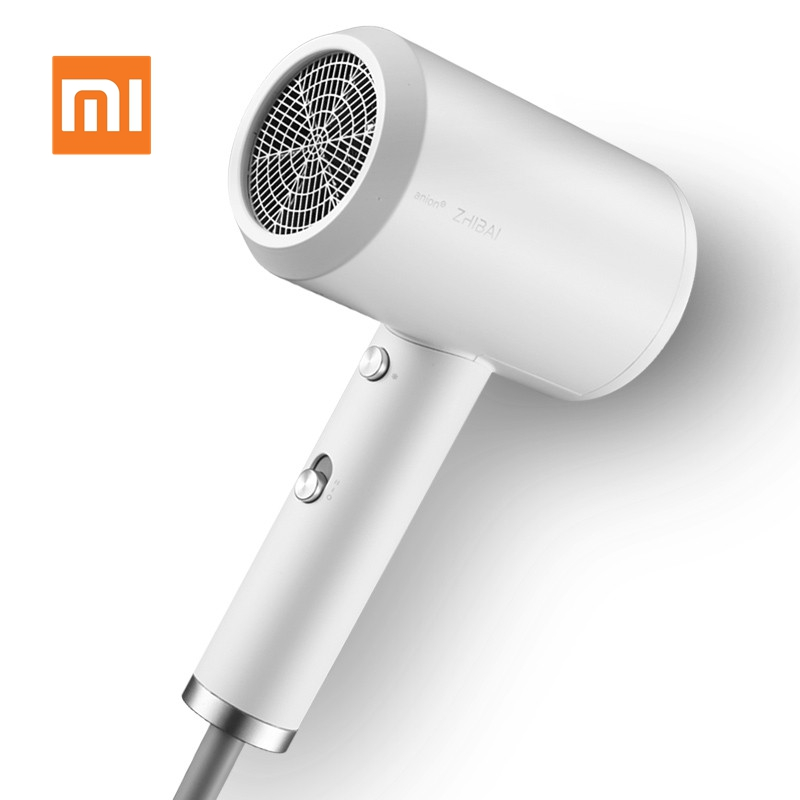 Original Xiaomi Zhibai Anion Hair Dryer Mini Portable 1800W Quick-drying Light Mi Blow Dryer Hair Tools for Travel Home Hotel