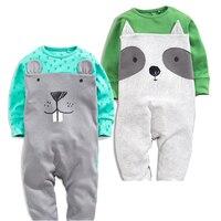2Pcs Lot Infant Clothing Boy S Girl S Set Baby Rompers Cute Animal Pattern Newborn Jumpsuit