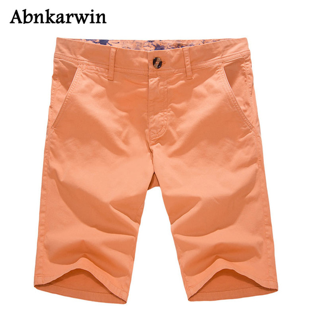 Latest 2018 Men Short Multi-Pockets Fashion Casual Brand Men's Solid Mid Cotton Shorts Trousers Male's Big Size Style Plus 40
