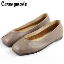 Careaymade-Hot new spring and autumn Sen female flat shoes Asakuchi with leather retro lazy casual grandma