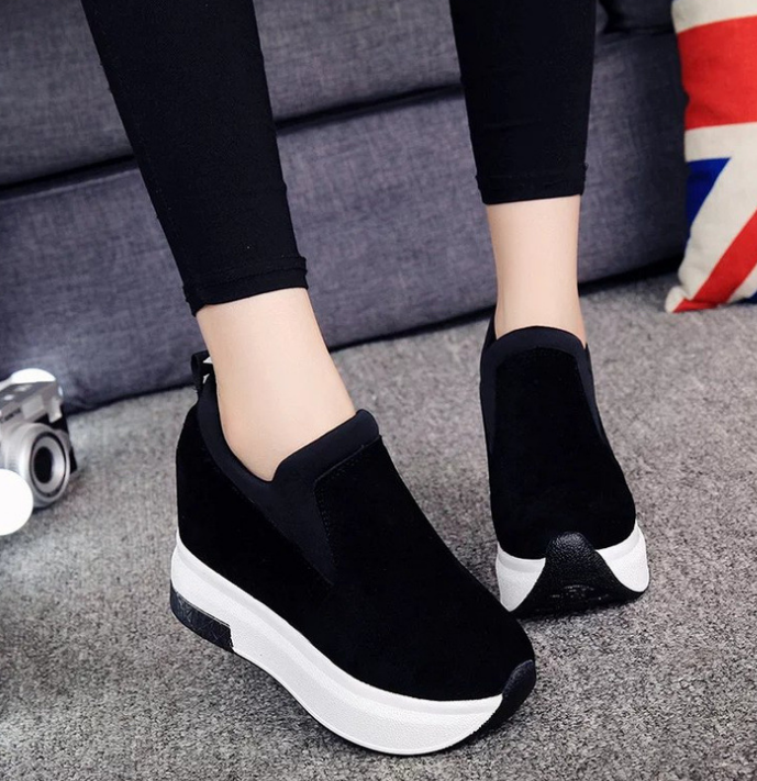 XEK 2018 Women Increased Shoes Women Fashion Platform Loafers Printed Casual Shoes Woman Wedges Shoes Breathable ZLL300 5