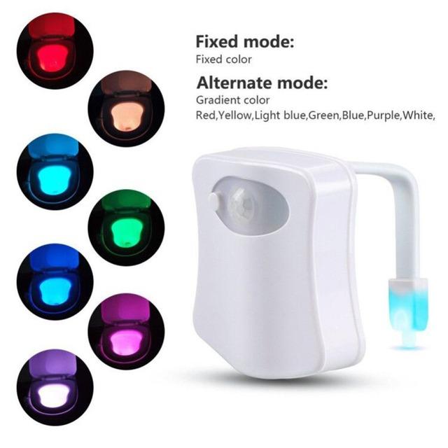 Bathroom Toilet Smart Nightlight LED / Body Motion Activated On/Off / Seat Sensor Lamp Toilet Night Light