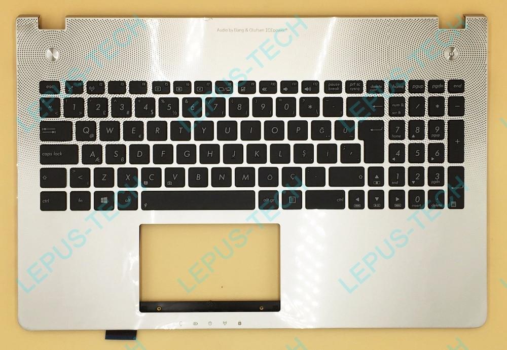 TR Turkish Keyboard For ASUS N56 N56V N56VB N56VJ N56VM N56VV N56VZ Top Cover Upper Case Palmrest 90R-N9J1K2N80 Silver portuguese laptop keyboard for asus n56jk n56jn n56jr n56v n56vb n56vj n56vm with c shell palmrest cover backlit po