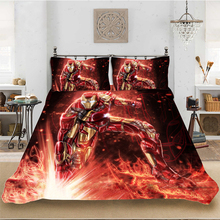 Marvel HD 3D Print Iron Man Superhero Bedding set Bedclothes Include Duvet Cover Pillowcase Home Textile Bed Linens