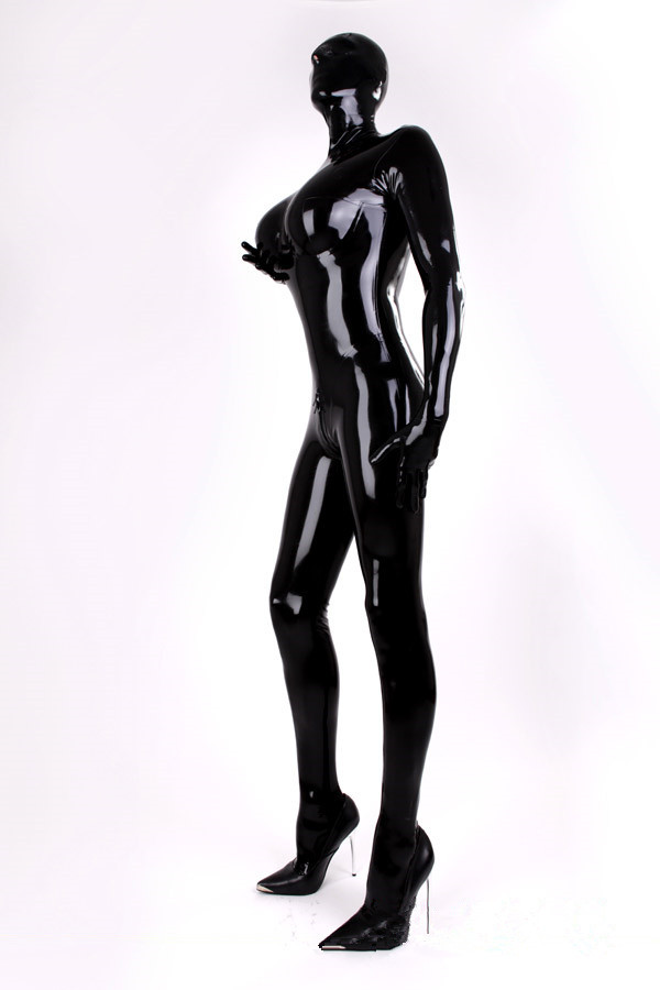 Full body latex catsuit