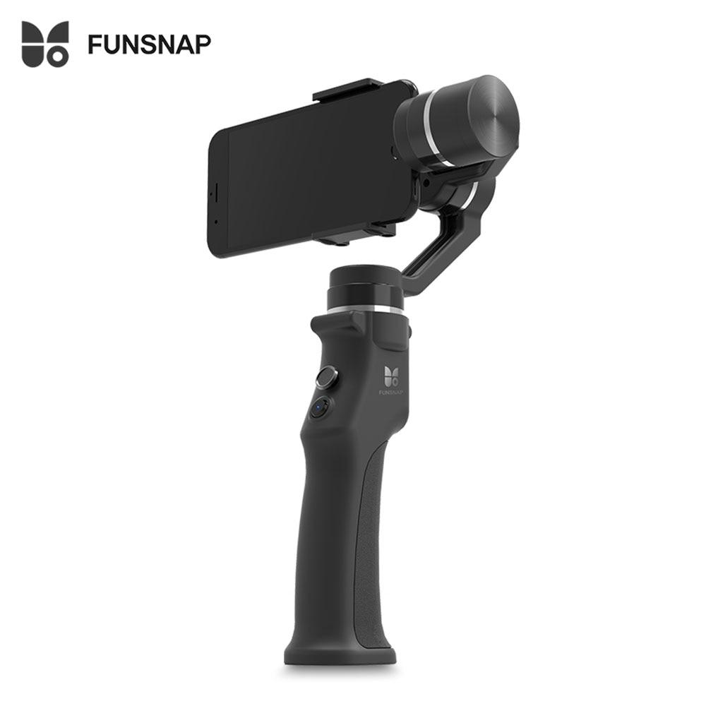 Funsnap захвата 3 оси Ручной Бесщеточный Gimbal стабилизатор стабильной съемки устройства настроены для смартфон Bluetooth подключить