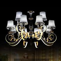 Chrome Modern Led Chandelier Lighting Lustres Vintage Design Acryl Lamps For Home Chandeliers Dining Room Living