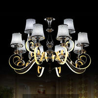 Cromo moderno led lustre de iluminação do vintage design acrílico lâmpadas para lustres casa sala jantar sala estar 220 v