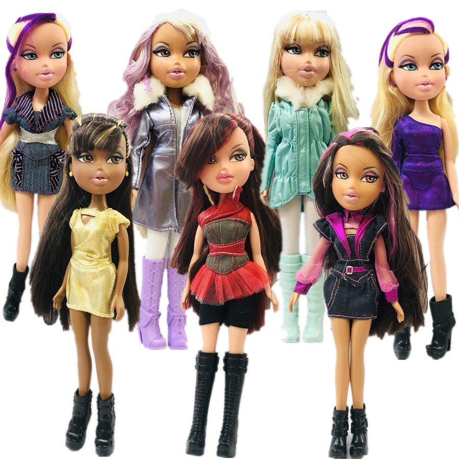 23cm Original Fashion Action Figure Original Bratz Doll Red Hair And Beautiful Clothes Dress Up Doll Best Gift For Child