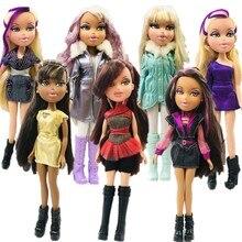 23cm oryginalna moda figurka oryginalna lalka Bratz rude włosy i piękne ubrania element ubioru lalka najlepszy prezent dla dziecka