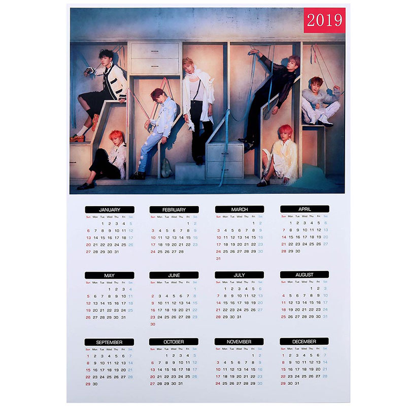 Calendar Calendars, Planners & Cards Energetic 2019 K-pop Bts Bangtan Boys Love Yourself A4 Wall Calendar Jin V Picture Photo Album Calendar School Office Supplies