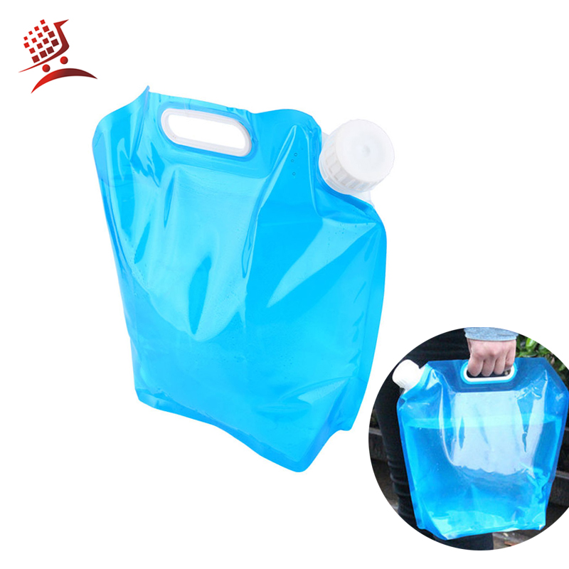Drinking Folding Water Carrier Bucket Bottle Pot for Outdoor Camping Car