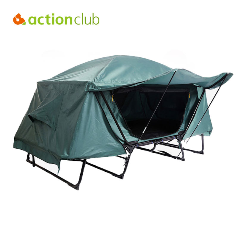 Actionclub Waterproof Folding Tent Bed Automatic Camping Tent 1-2 Person Fishing Tents Outdoor Recreational Camping Tents high quality outdoor 2 person camping tent double layer aluminum rod ultralight tent with snow skirt oneroad windsnow 2 plus